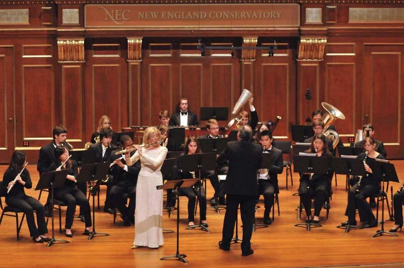 The Lark Ascending with the NEC Wind Ensemble. Charles Peltz, conductor. Photo Andrew Hurlbut.