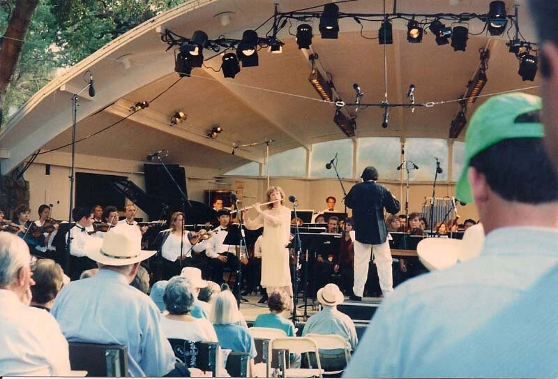 Kirchner with Michael Tilson Thomas at the Ojai Festival.