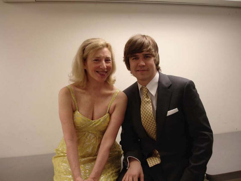 with pianist Paavali Jumppanen at the Gardner Museum, Boston.