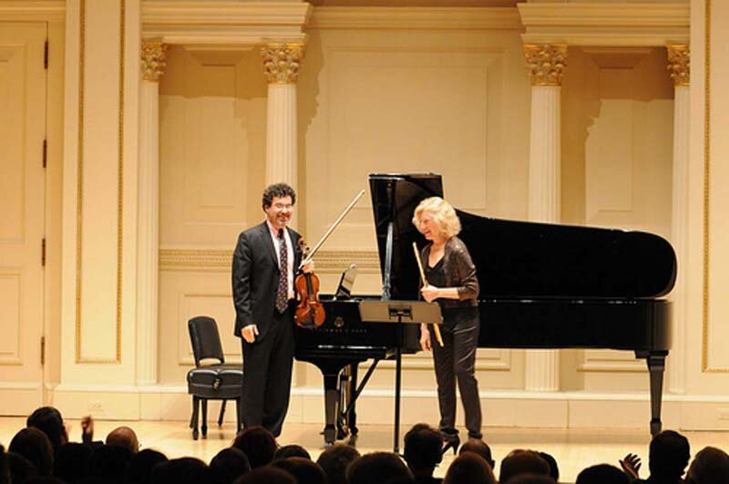 with Adam Abeshouse, Weill Hall at Carnegie Hall.