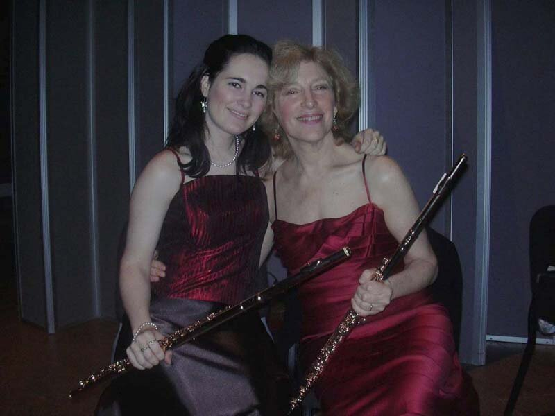 with Dora Seres, flute. Metropolitan Museum, New York.