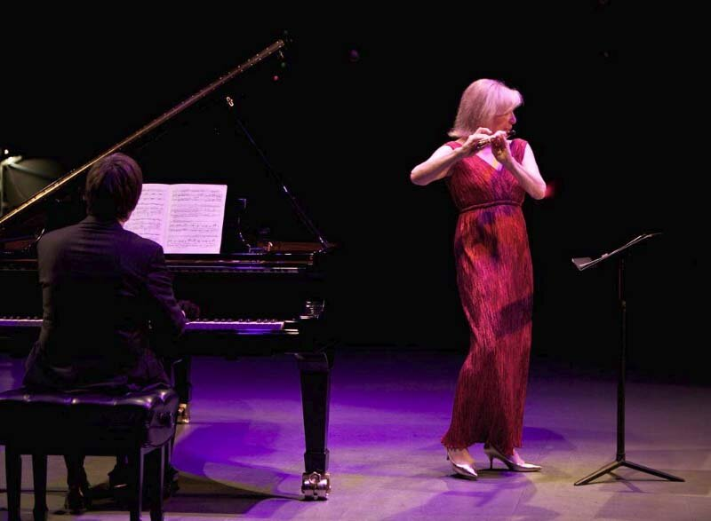 with Paavali Jumppanen, piano. Symphony Space, New York. Photo Matt Dine.