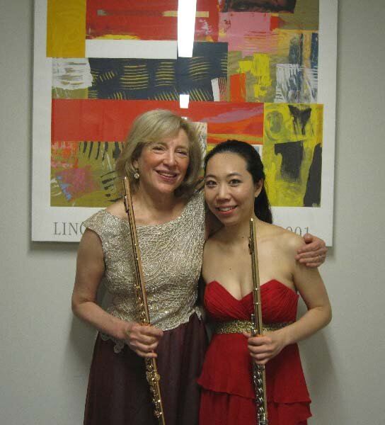 with Sooyun Kim after Brandenburg Performances at Lincoln Center