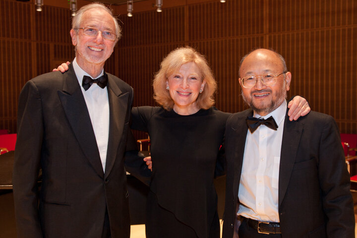 with Renzo Piano and Yazu Toyota - Opening night of Calderwood Hall, Isabella Stewart Gardner Museum. photo by Cheryl Richards