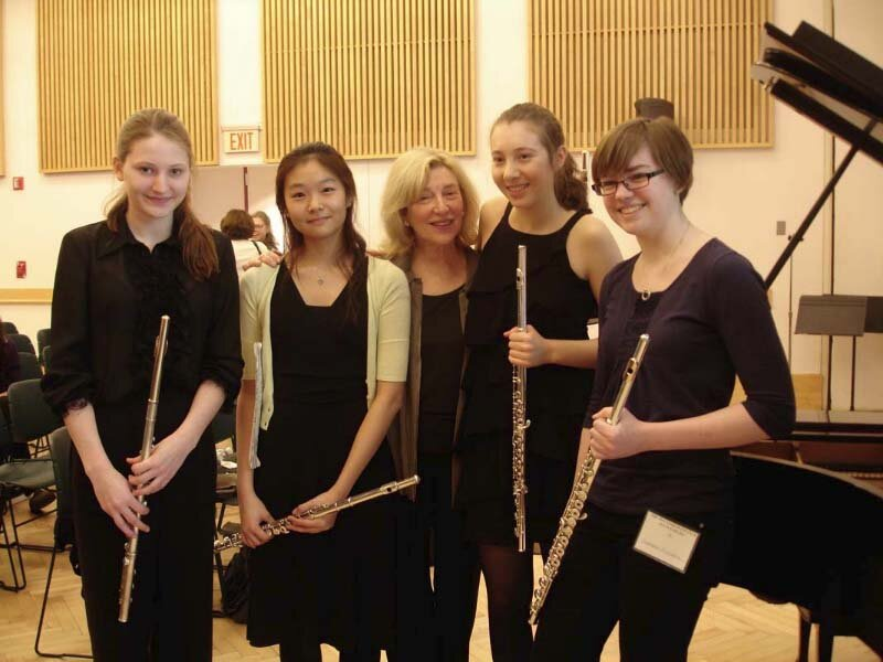 Masterclass at the New York Flute Fair. Photo Anne Everhart.