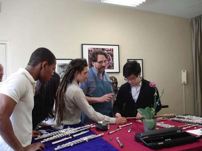Studio field trip to Haynes Flutes, 12 Piedmont, Boston, MA.
