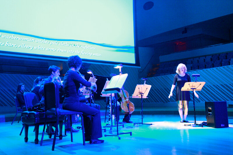 Pierrot Lunaire, Op 21 by Schoenberg. Paula Robison, Sprecherin with members of the New World Symphony. Miami, 2012.
