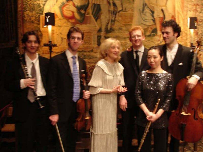 """Pierrot"" at the Isabella Stewart Gardner Museum (left to right): Alexis Lanz, David Fulmer, Steven Beck, Sooyun Kim, Eric Jacobsen. Boston, MA."