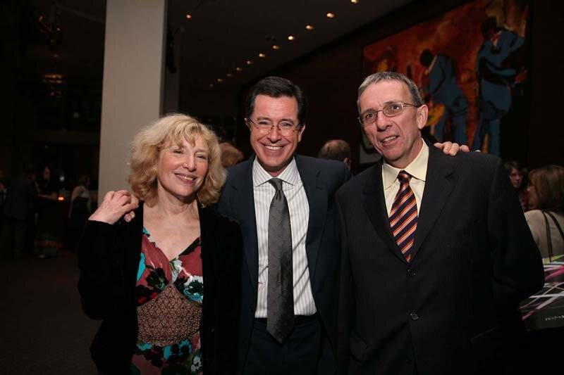 with Stephen Colbert and Bernard Murphy, Lincoln Center, NY.