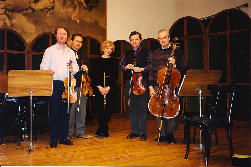 with the Budapest Strings.