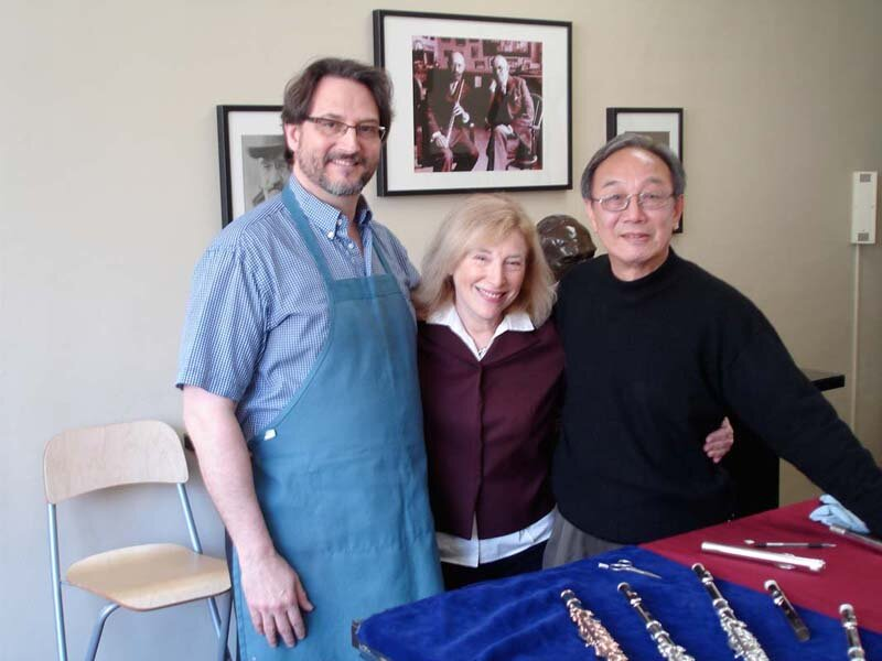with Steven Finley and Zu Feng Le. Photo by Adam Workman.