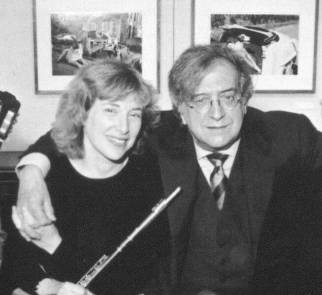 with Luciano Berio, 92nd Street Y, New York. Photo Steve J. Sherman.