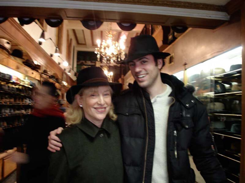 Borselino at JJ Hat Store with Eric Jacobsen.