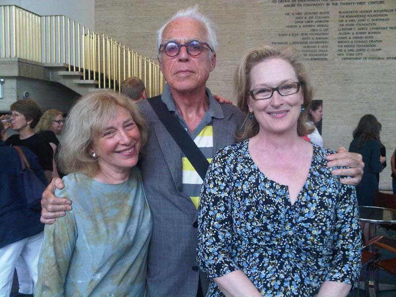 with John Guare and Meryl Streep. Lincoln Center, New York. photo Adele Chatfield-Taylor.