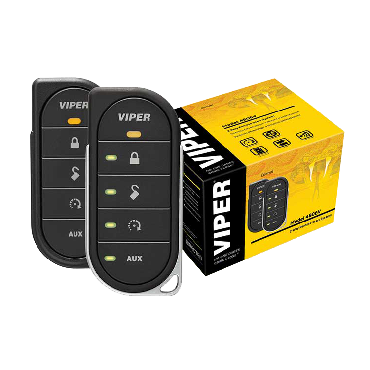 Viper 4806v-LED 2-WayRemote Start System - Now rechargeable!Viper's elegant new Responder LE transceivers mark a giant leap forward in 21st century remote start, and an evolutionary milestone for the keychain remote. These slender & sophisticated 2-Way remote controls feature a clean sleek ergonomic industrial design, made to fit the user's hand comfortably, enabling effortless and intuitive single-handed operation as Brilliant LEDs confirm your commands.Brilliant LEDs1 Responder LE 2-Way and 1 5-button 1-WayUp to 1 Mile Range