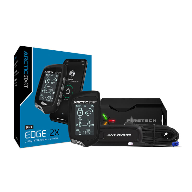 ArcticStart-RFX-AR2WT10-SS - All-in-One 2-Way Remote Start Bundle w/ LCD1-mile max range remote kit with 2-way interactive LCD. Includes Drone X1-LTE module for adding unlimited range smartphone control and GPS tracking. Works with all Arctic Start remote start and security systems.
