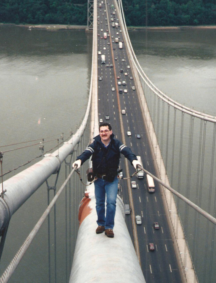 As an engineer for the Port Authority, Frank ensured that bridges were safe—including the George Washington bridge.
