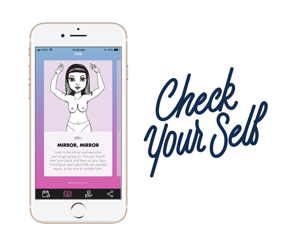 Télécharge l'application GRATUITEMENT pour apprendre à effectuer ton auto-palpation ! - Déjà plus de 67 000 téléchargements !