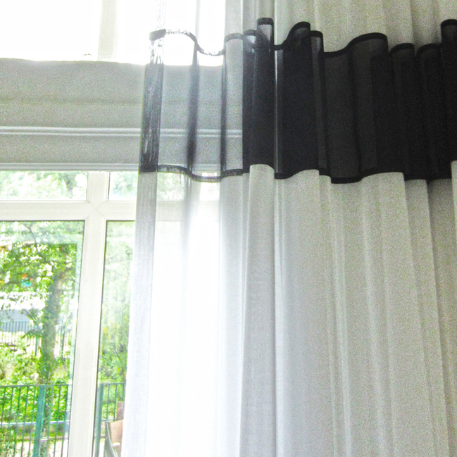 Copy of Kimik Design Gordijn No.29 Zwart Wit
