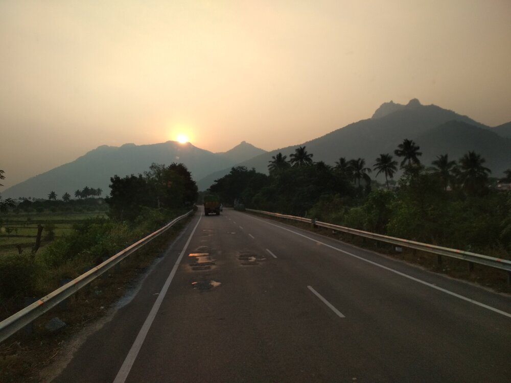 'A picturesque sunset we witnessed on the way from Nellore to Palamaner'.  Photo: Ozzie Hoppe