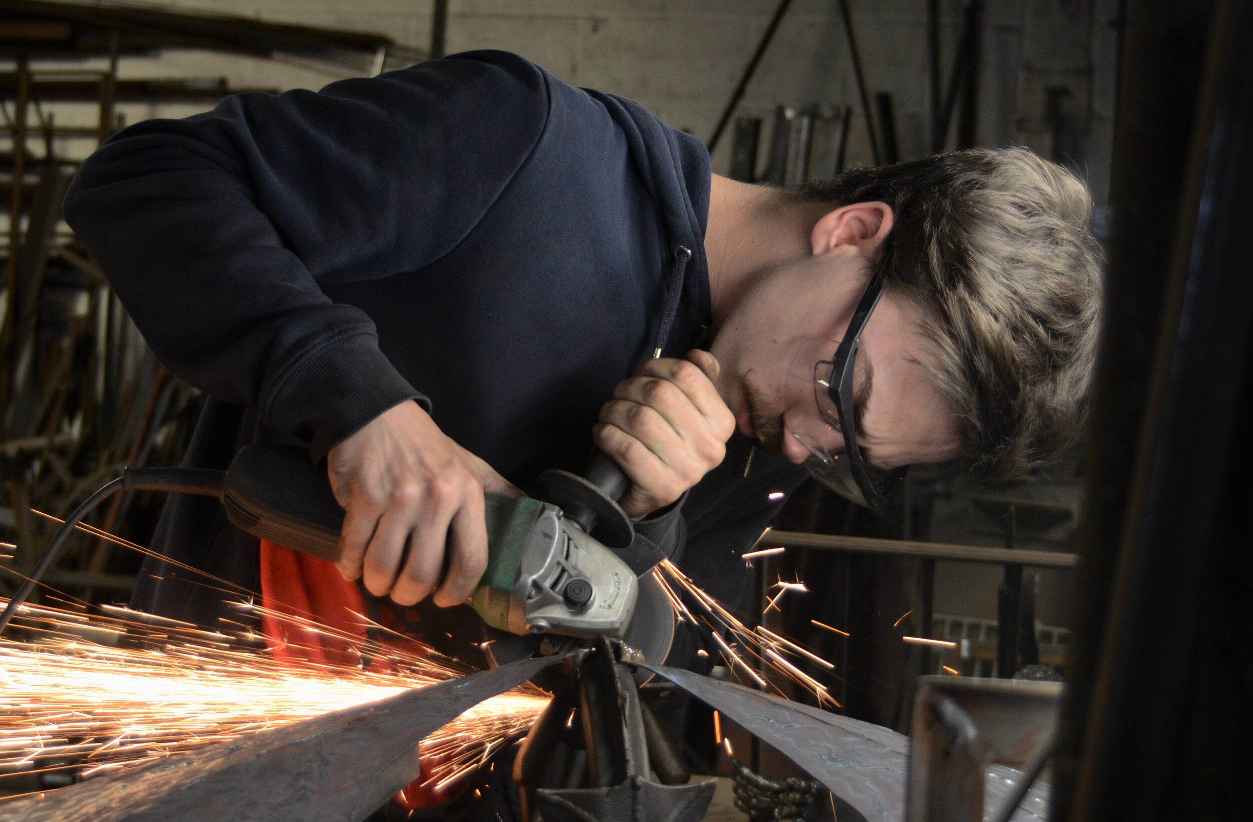 Dan - Welder, fabricator - Dan has recently joined us as an apprentice and we are pleased to say that he is showing a great deal of promise. Not a guy of many words but very capable.