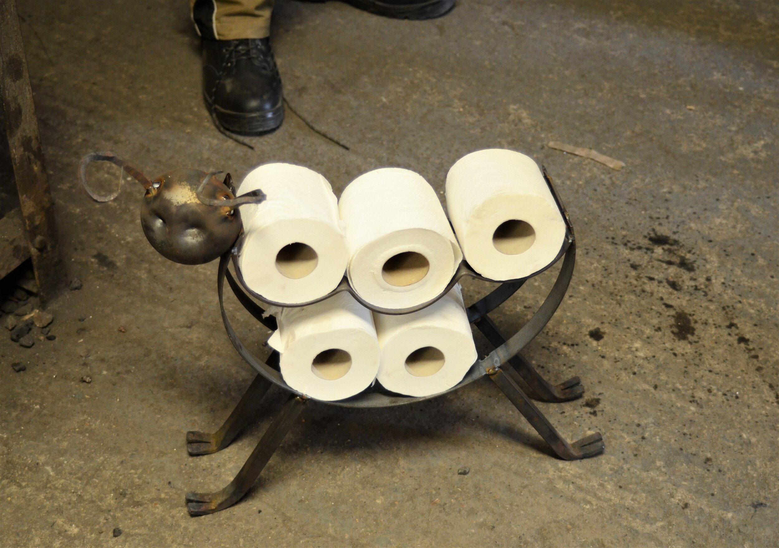 A toilet roll holder made on the day