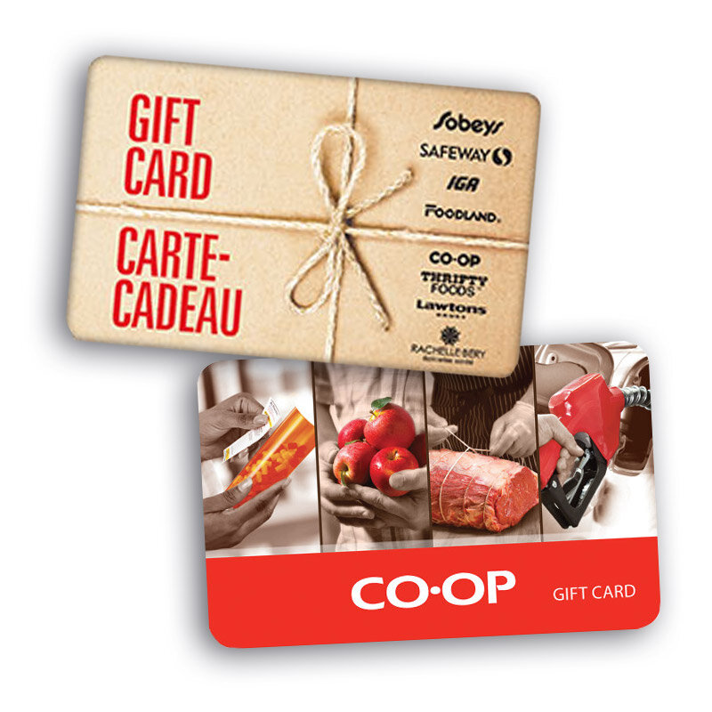 Co-op groceryCo-op LiquorSafeway/Sobey's grocery - The Friends of the Young Canadians use the grocery card program to raise funds each year. There is no charge to our customers; you simply need to purchase gift cards for the same value. (ie. $100 = $100 Grocery Card).