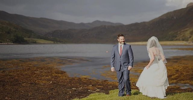 This is Anna & Doug seeing each other for the first time, just before their ceremony in the Scottish Highlands. A first look is a beautiful moment to capture, just two souls deeply in love and preparing to commit to each other for the rest of their lives. #destinationweddingvideographer #weddinginspiration #weddingfilmmaker #destinationwedding #weddingvideo #ukweddingvideographer #scotlandwedding #brawbrides #wefellinlove #scottishwedding #elopetoscotland #eileandonancastle @1eileandonancastle