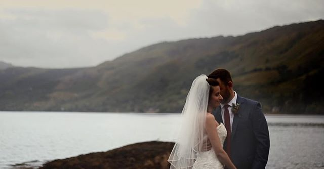 Anna & Doug taking a moment after their ceremony at @1eileandonancastle to enjoy the last of the light on their wedding day. It was a gorgeous day surrounded by their closest friends and family, eloping to #scotland and boy was it worth it! #destinationweddingvideographer #weddinginspiration #weddingfilmmaker #destinationwedding #weddingvideo #ukweddingvideographer #scotlandwedding #brawbrides #wefellinlove #scottishwedding #elopetoscotland #eileandonancastle