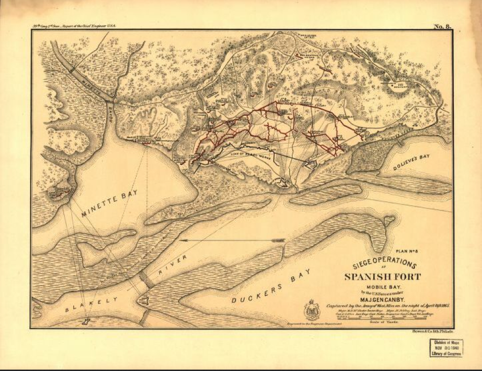 Map of Spanish Fort, Alabama - Library of Congress