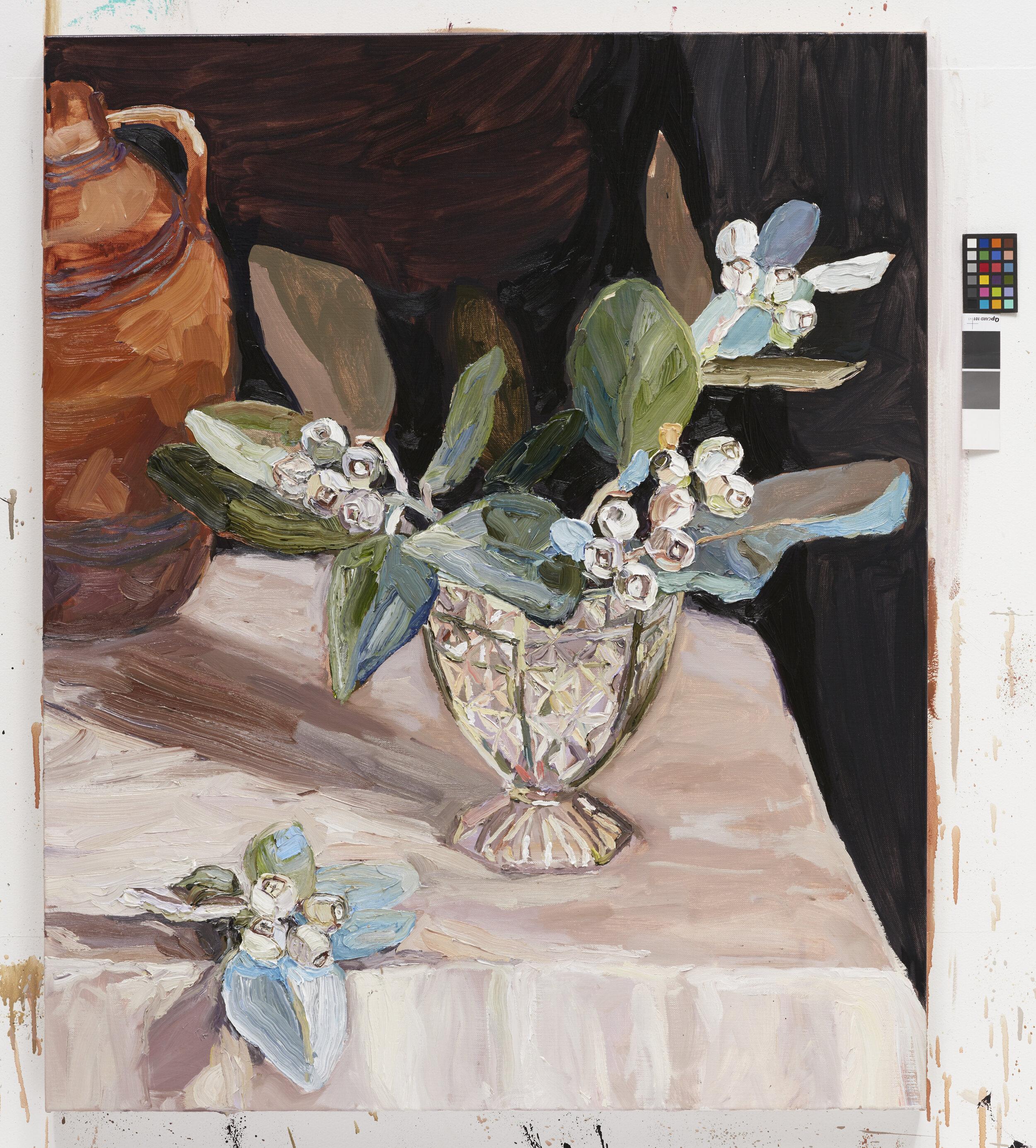 Tallerack in crystal vase