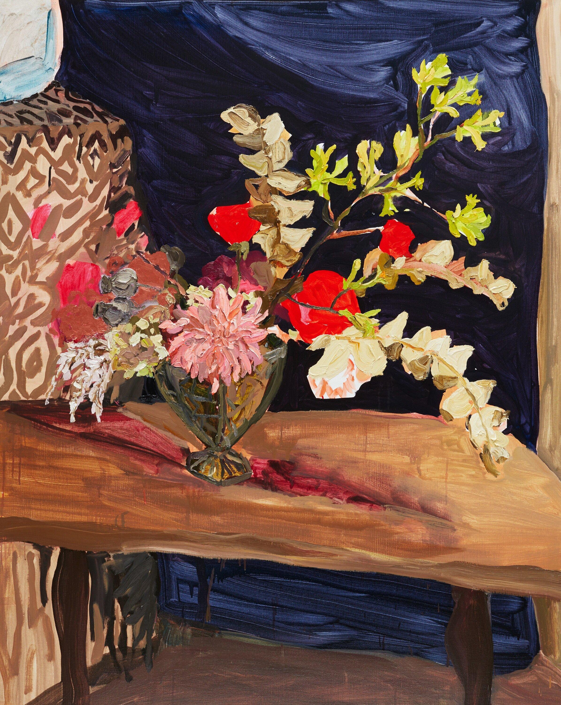 Kangaroo paw and mulla mulla with roses and dahlia