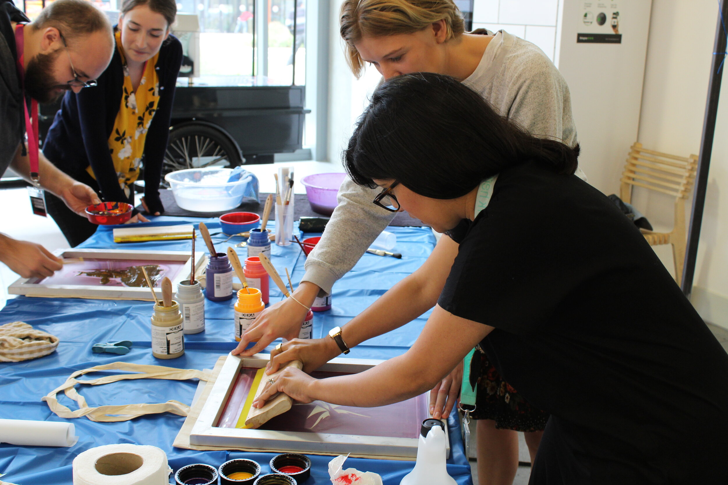 Screen Printing Workshops - Learn printing techniques to make original prints for your walls.