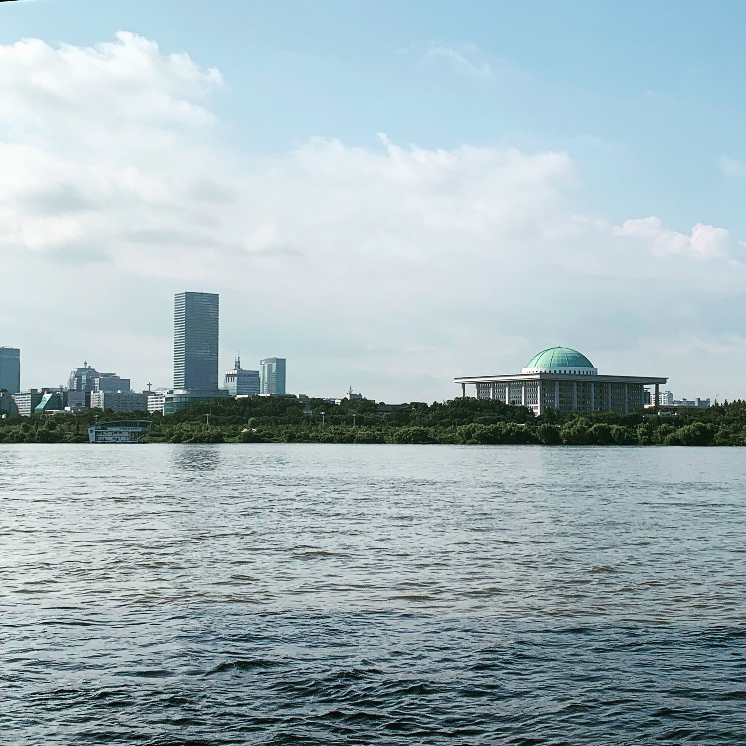 Han River looking toward the South Korean National Assembly (D. Draudt, August 2019)