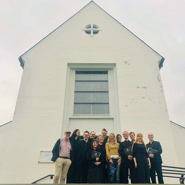 So honored today to hear #TurquoiseBlueDeepGreen composed by @pall_ragnar_palsson_composer w/ words by @asdissifstudio performed angelically by @simultaneo_ensemble at @skalholt_summer_concerts photos by @cinecycle . #livemusic #choir #skálholt #sumartónleikar