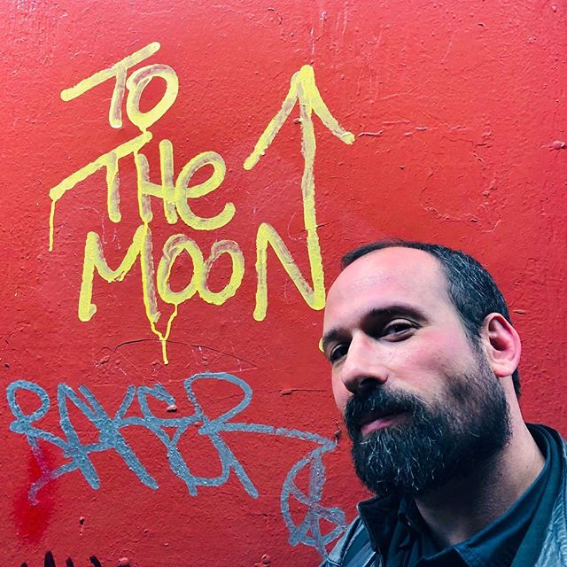 Being here, taking me there, walking the streets of jazz with my love #flymetothemoon . #streetartnyc #iloveny