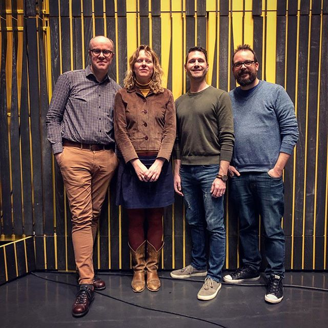 an amazing afternoon recording inside @harpareykjavik w/ @pall_ragnar_palsson_composer @danmerceruio & @dbssound @caputensemble @sonolummusic . #livemusic #surroundsound #poetry #icelandicmusic #asdissifgunnarsdottir
