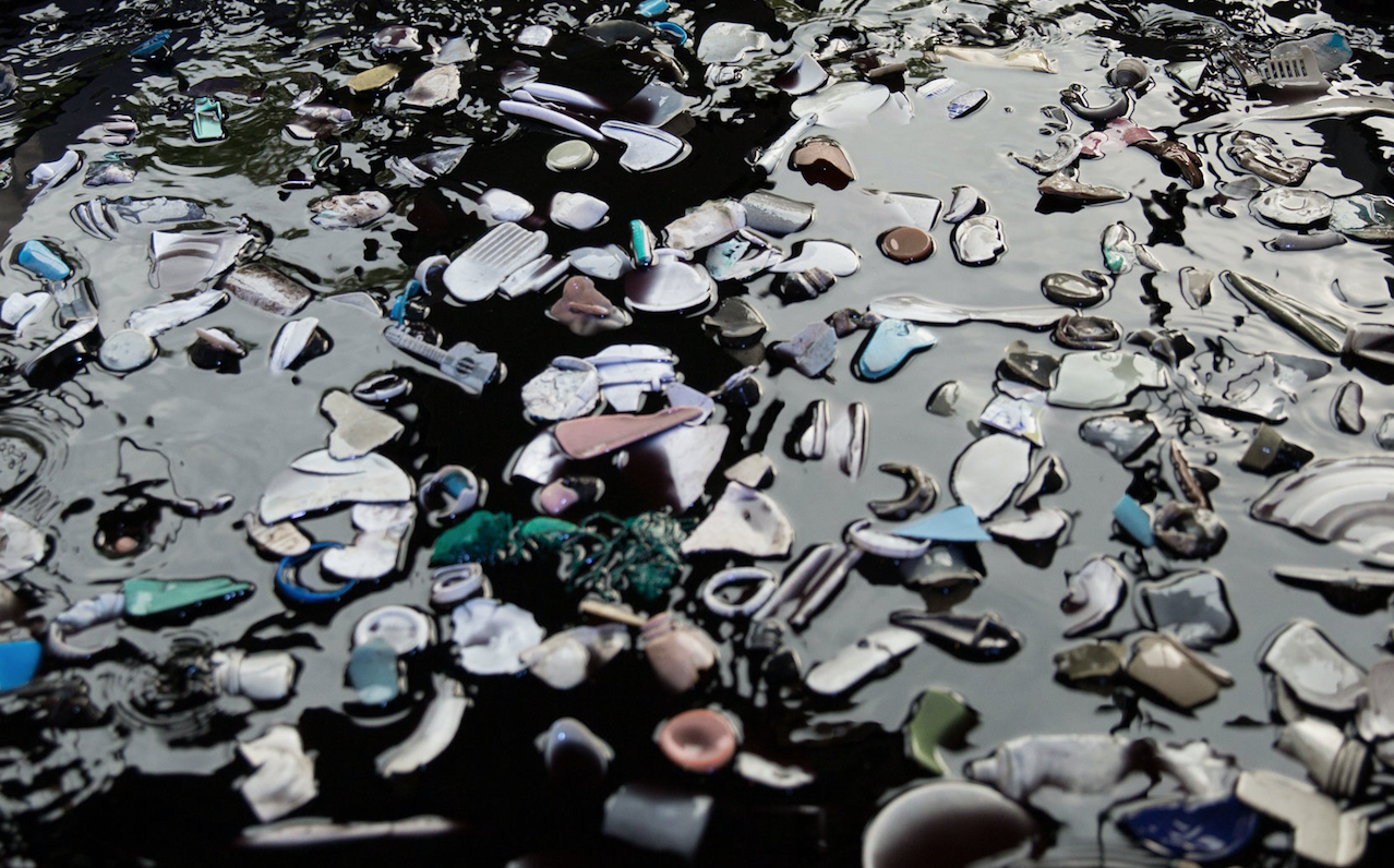 - The amount of plastic in the oceans keeps growing.