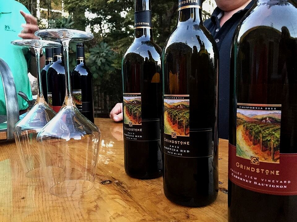 tasting room - Visit Grindstone where you can sample our handcrafted wines with family and friends