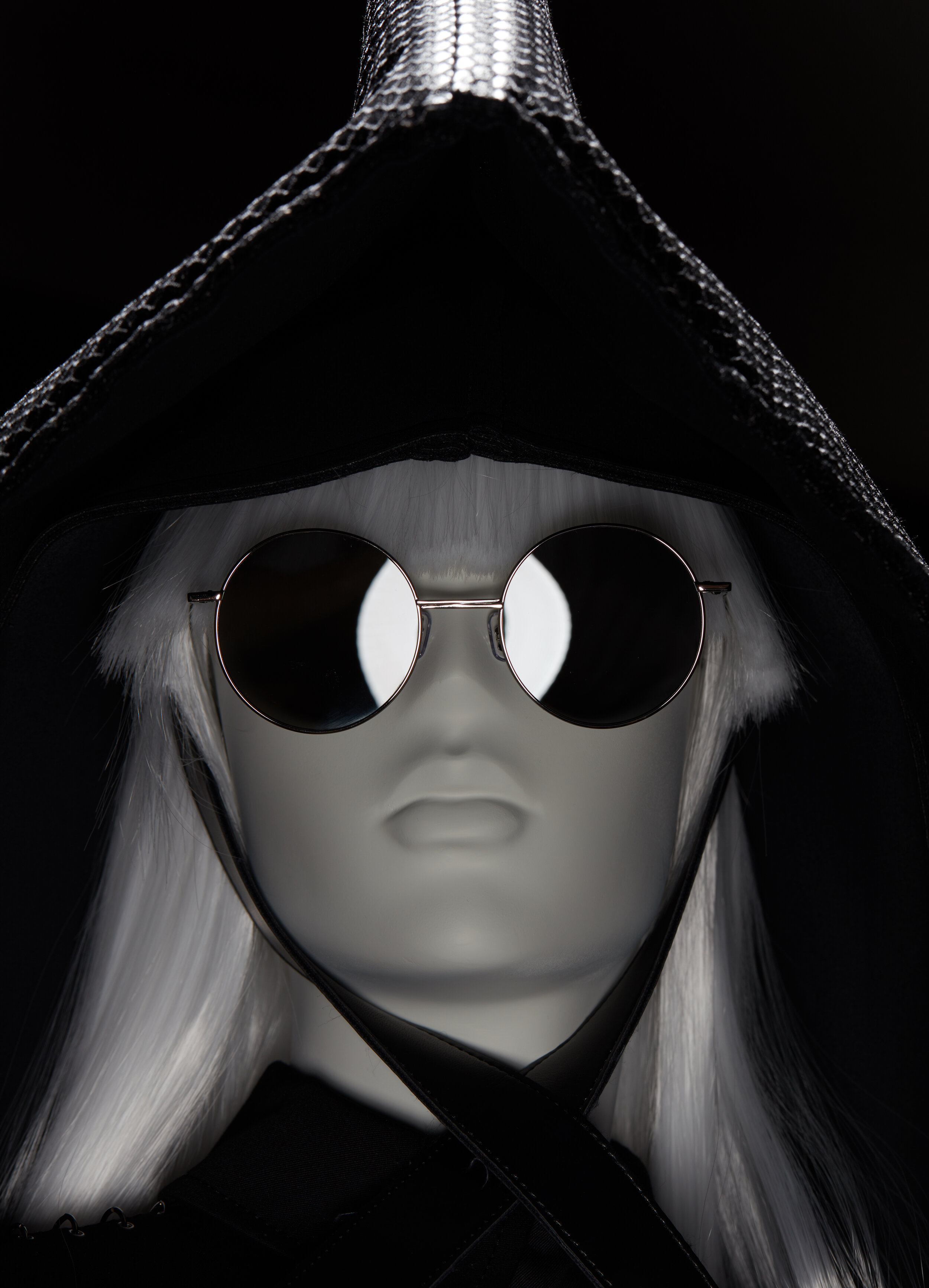 Io wearing Gentle Monster and Comme des Garçons Noir - London, 2019