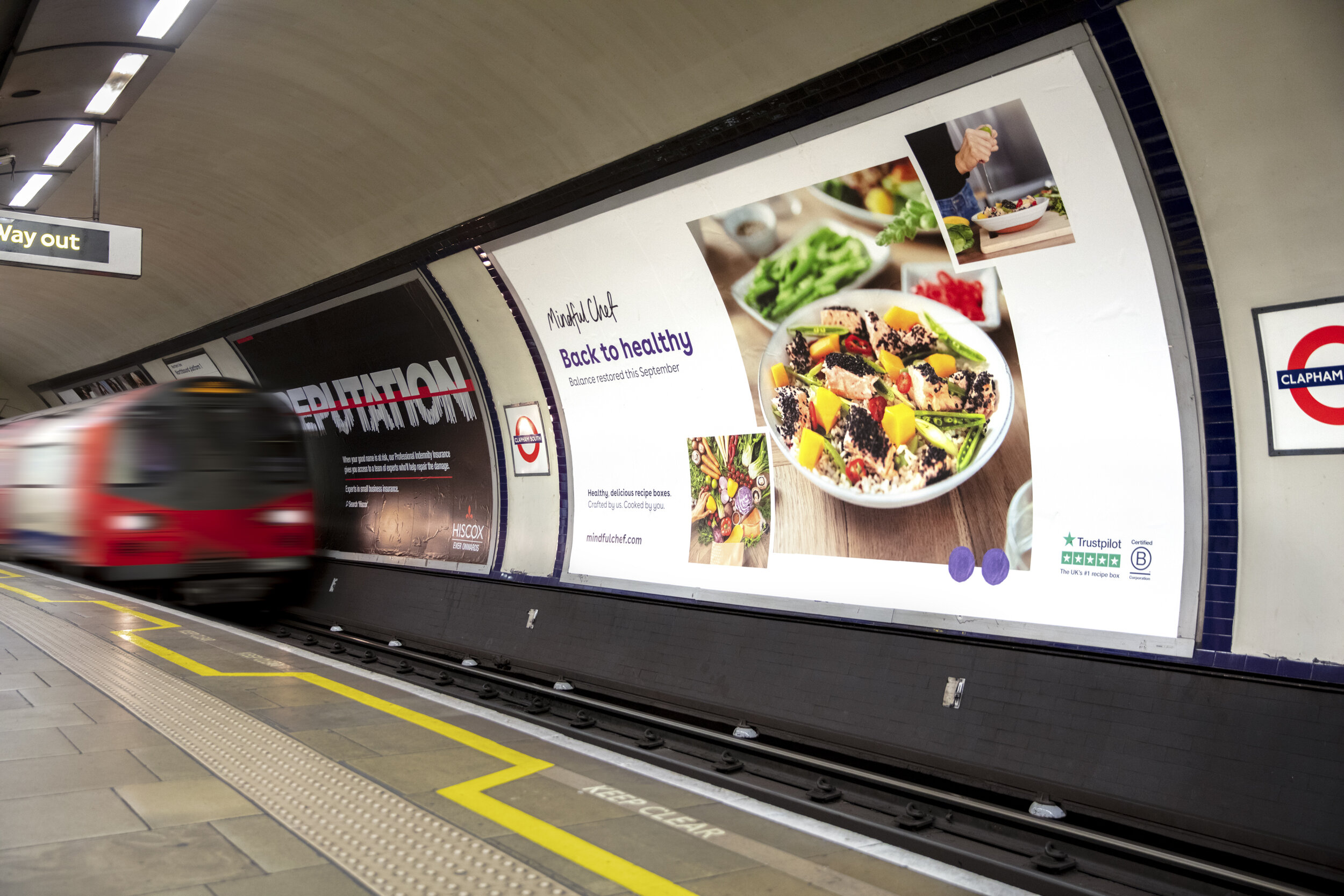 48 sheet London Underground ad for Mindful Chef's 'Back to Healthy' campaign - London, 2019