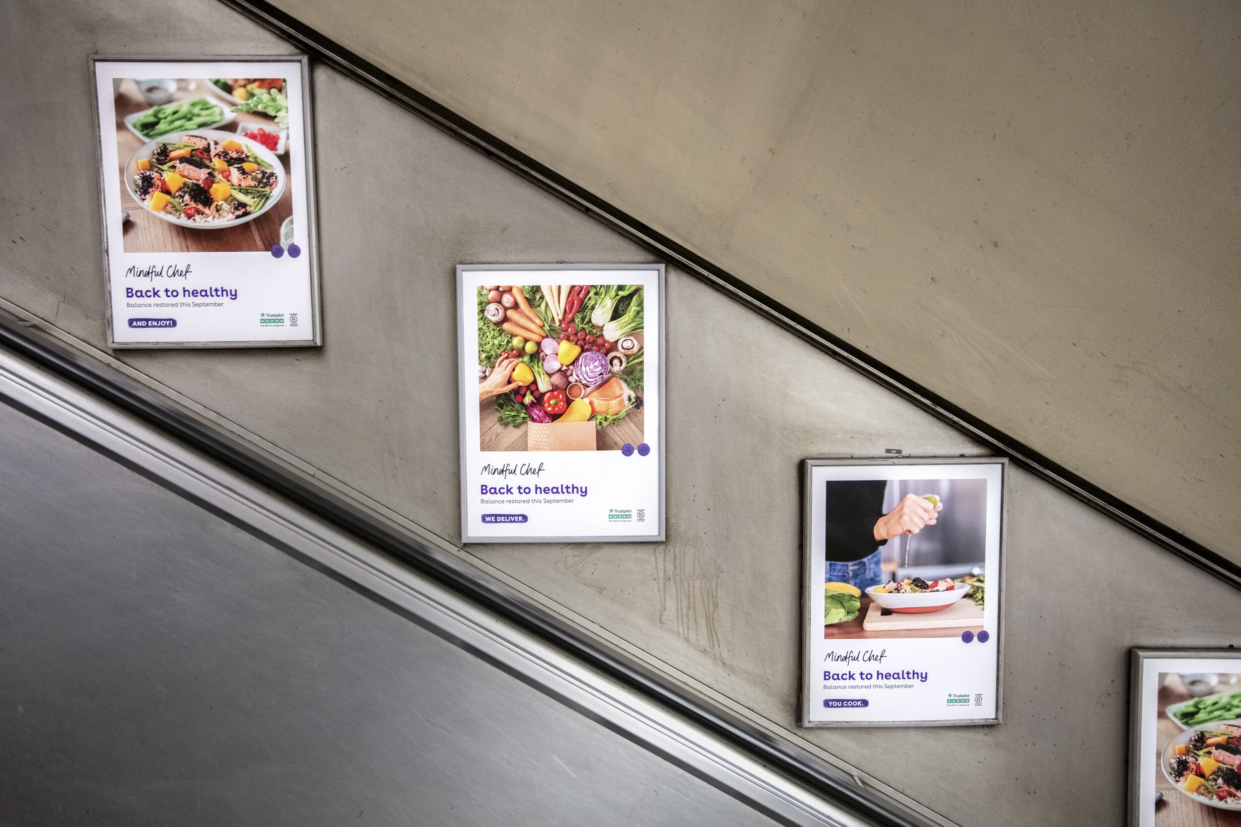LEP London Underground ad for Mindful Chef's 'Back to Healthy' campaign - London, 2019