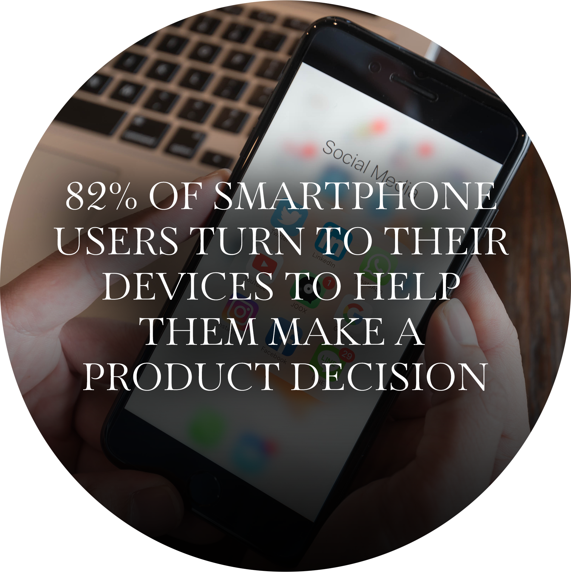 82% OF SMARTPHONE USERS TURN TO THEIR DEVICES TO HELP THEM MAKE A PRODUCT DECISION.