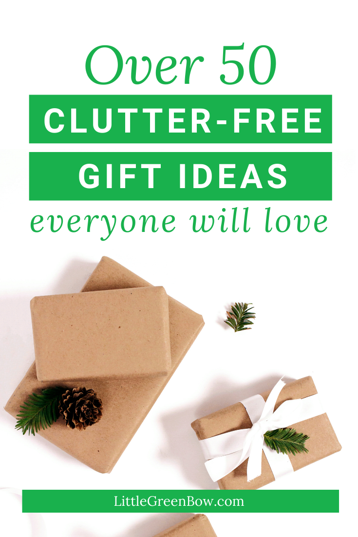 Clutter Free Christmas Gift Ideas Little Green Bow The Wannabe Minimalist