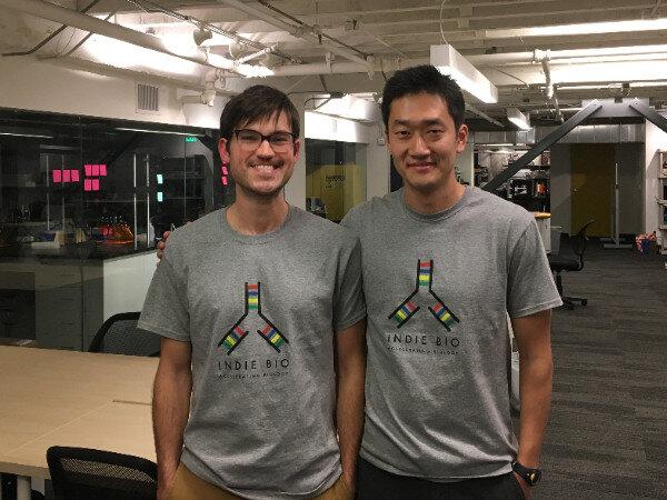 Nate and Hyunjun at IndieBio