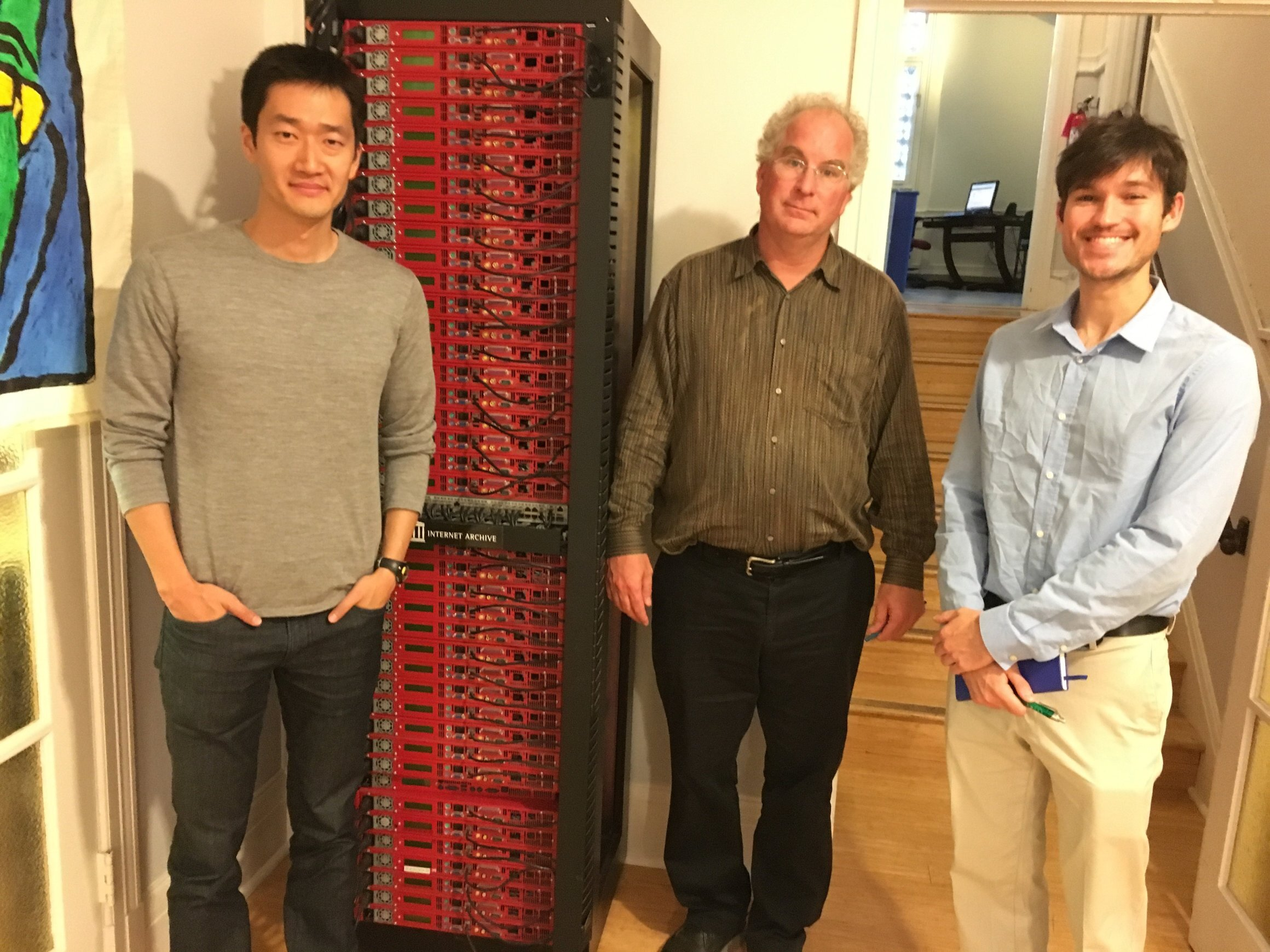 Catalog co-founders with the founder of the Internet Archive, Brewster Kahle