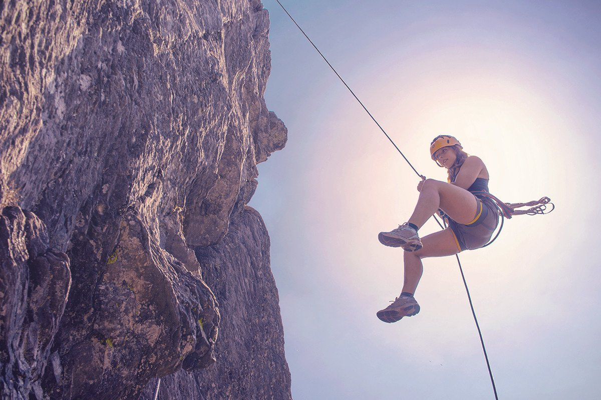 Abseiling -
