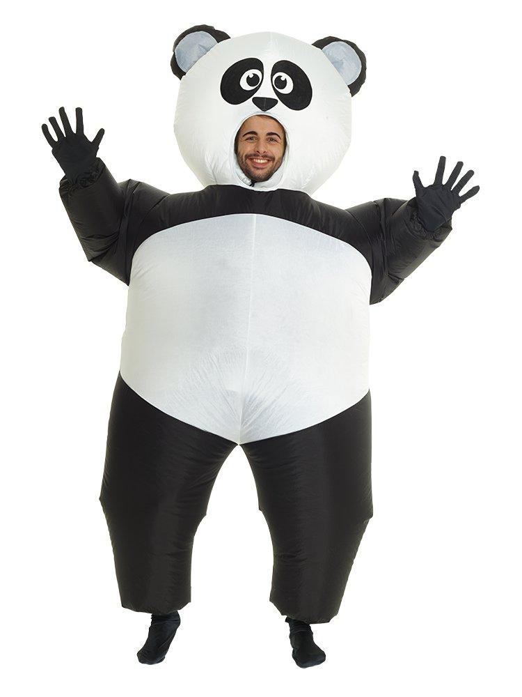 Inflatable Panda - Why become a panda when you can become a giant panda and be the cuddliest person at the party.Chase down your friends in this Giant Inflatable Panda CostumeImportant:Batteries NOT included - Powered by a battery-operated fan, Requires x4 AA batteriesChest Size: 38-44