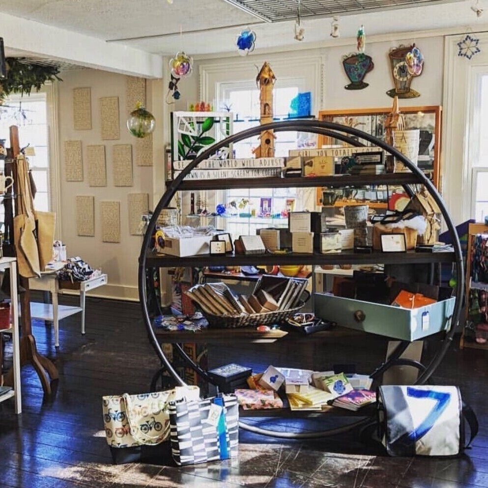 The best little shop to find… - Glass, pottery, art pieces, or jewelry, all nicely wrapped for a beautiful presentation.