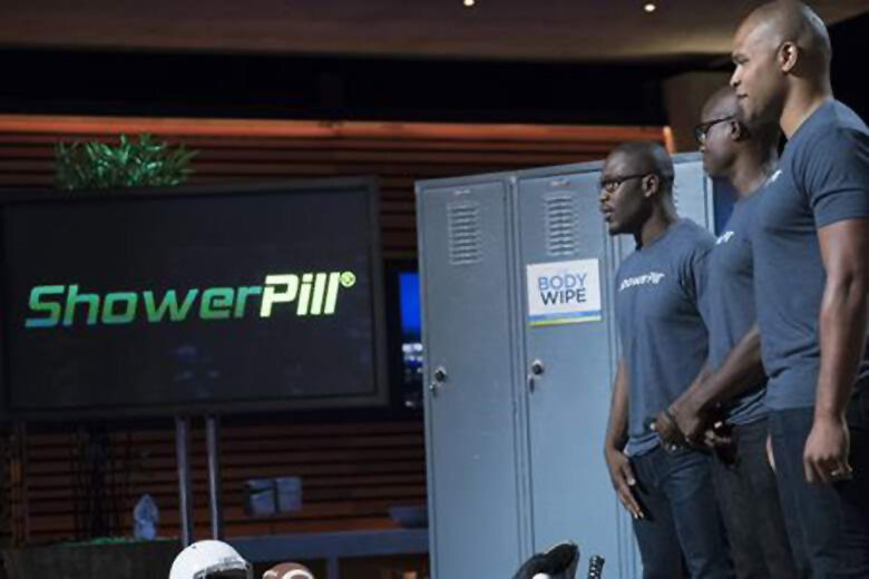 Pitching to the judges on Shark Tank